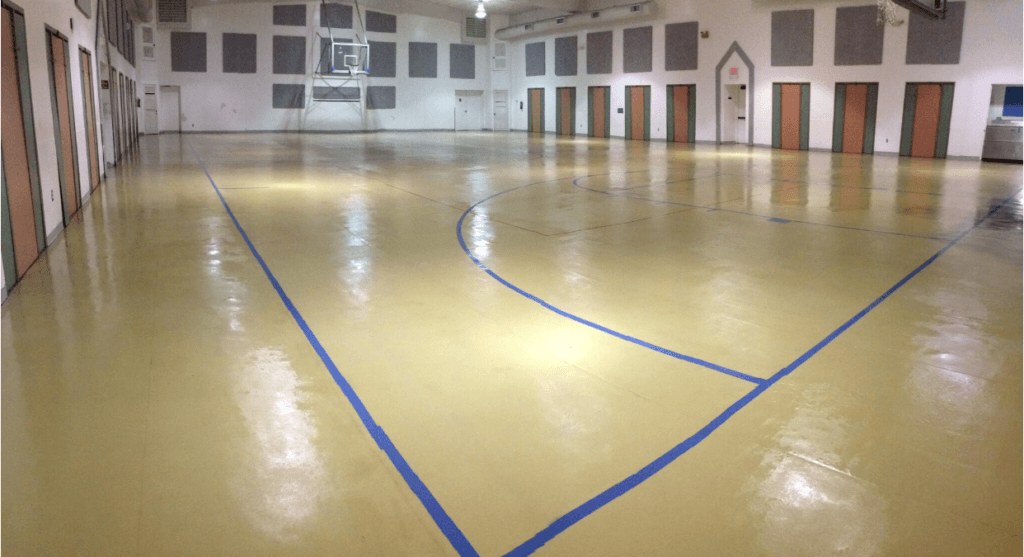 South-Daytona-gymnasium-floor-after-restoration