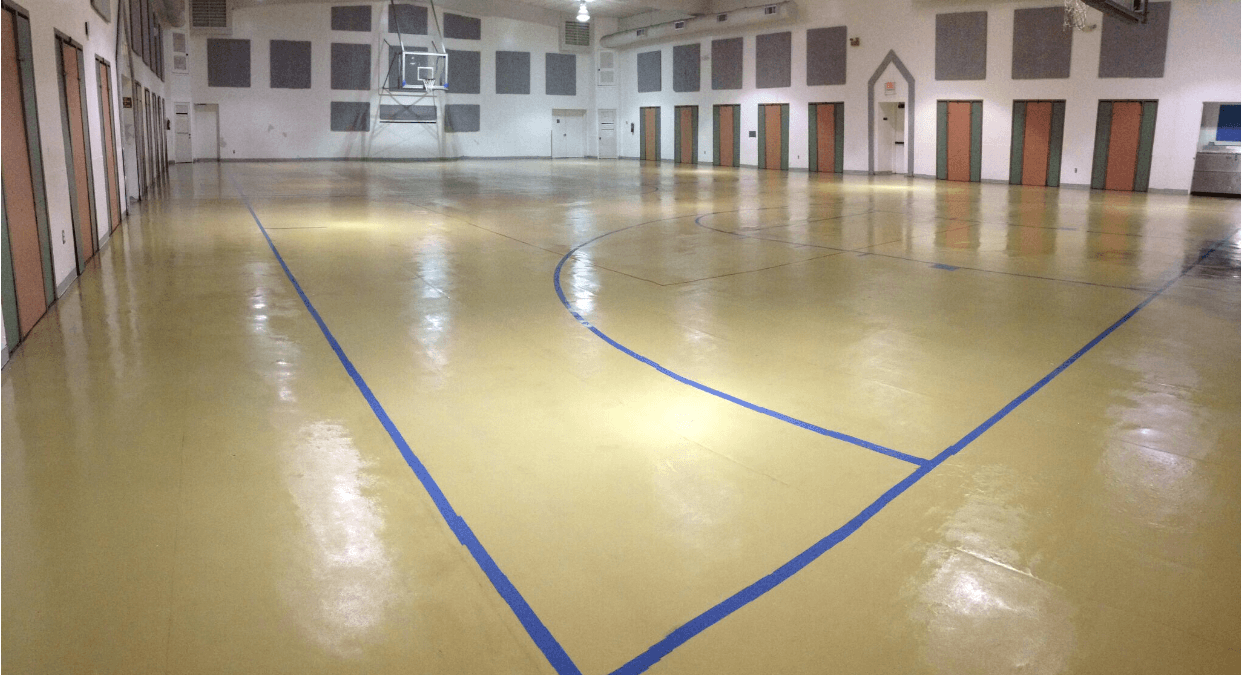 South-Daytona-gymnasium-floor-after-restoration